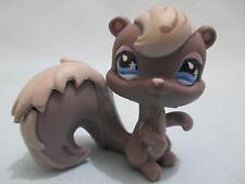 Littlest Pet Shop Squirrel #484 Gray Blue flower drop eyes 100% Authentic