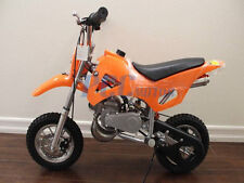 FREE SHIPPING KIDS 49CC 2 STROKE GAS MOTOR DIRT MINI POCKET BIKE ORANGE H DB49A