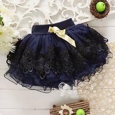 Princess Baby Girls Summer Floral Tutu Pettiskirt Mini Skirt Dress Short Dress