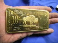 10 oz 999 Brass American Buffalo TOP Financial investment ! VERY RARE ! NEW