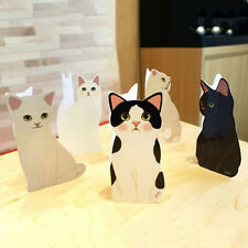 Cute Standing Cat Design Paper Greeting Card Valentines Birthday Get Well Gift