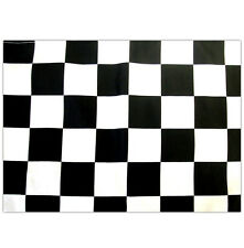 BLACK & WHITE CHEQUERED FLAG 5' X 3FT WITH HANGING EYELETS, CHECK RACING FLAG