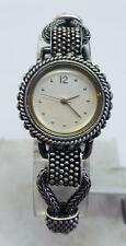 New Solid Sterling Silver Ladies Watch in Antique Finish with Tugle Lock