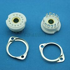 2PCS 13pin Ceramic Chassis Mount tube sockets for Nixie GN4,B5092,B13B,ZM1020