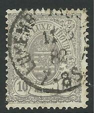 LUXEMBOURG. 1878. 10c Grey-Lilac, Perf 13 Narrow Margins. SG:47. Fine Used.