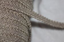 "$1 yard Tan GIMP Braid braided sewing upholstery costume craft trim 1/2"" wide Dr"