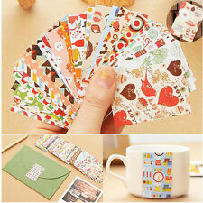52pcs Vintage Paper Sticker Cherry Flower Photo Album Diary Book Scrapbook Gift