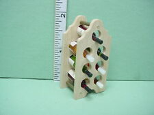 Dollhouse Miniature Wine Rack wi Acrylic Bottles, No Liquid Linden Swiss REDUCED