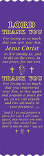 """""""Lord Thank You"""" Easter Bible Bookmark Ribbons, pack of 10"""