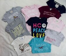 Lot of 10 Junior Size XXS XS Small T shirts tops Abercrombie Hollister Aero Pink
