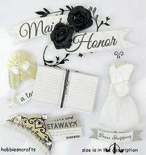 EK SUCCESS JOLEE'S BOUTIQUE 3-D STICKERS MARRIAGE WEDDING - MAID OF HONOR