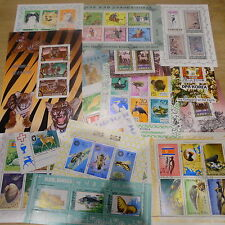 TIMBRES ANIMAUX :  10 BLOCS OBLITERES DIFFERENTS DE COREE / BLOCK ANIMALS STAMPS