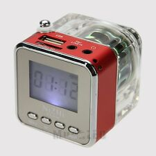 Portable Mini Speaker LCD HiFi Music MP3 Player Micro SD/TF USB Disk FM Radio US