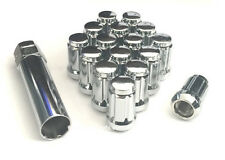 20 MUSTANG CHROME SPLINE LUG NUTS | 1/2-20 | CLOSED END |  LOCK KEY | JEEP | NEW