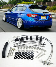 For 08-14 Subaru Impreza STI 11-14 WRX Riser Kit Hatch 3Dr Rear Spoiler Lip Wing