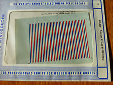 Microscale Decal N  #60-428 Amtrak Passenger Car Stripes (1980-1996) use with 60
