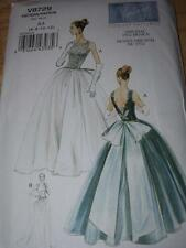 1956 DESIGN-VOGUE #V8729- LADIES FLOOR LENGTH BALL or BRIDAL GOWN PATTERN 6-12uc