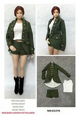 CC276 1/6 Army Cosplay Uniform Full Set for HOT TOYS,VERY COOL TOYS,CY GIRL