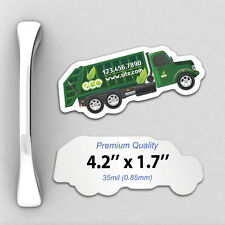 1000 Custom 35mil Thick Trash Truck Shaped Magnets