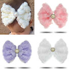 Baby Girls Big Cute Flower Pearl Bow Hairband Elastic Headband Hair Accessory