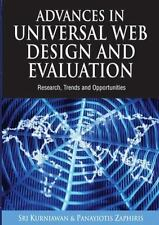 Advances in Universal Web Design and Evaluation: Research, Trends and Opportunit