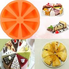 Silicone 8 Triangle Cavity Scottish Scone Baking Pan Cake Mold Cornbread Mould