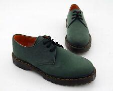 Schnürer Hardcore Shoes Halbschuhe Echtleder grün Gr. 39