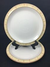 Denby Caramel Stripes Salad Dessert Plates Made In England Set of 2