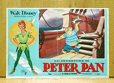 LE AVVENTURE DI PETER PAN fotobusta poster Walt Disney Spugna Pirata Animazione