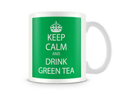 KC_079 Keep Calm And Drink GREEN TEA (GREEN) humorous gift funny custom personal