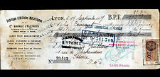 """LYON-VAISE (69) USINE de QUINCAILLERIE """"FABRIQUE d'ARTICLES METALLIQUES"""" en 1927"""
