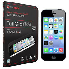 NEW Genuine Tempered Glass Screen Cover Protector For Apple iPhone 4 4S