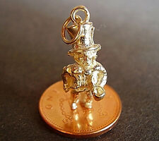 BEAUTIFUL 9CT GOLD '  MAD HATTER '  CHARM CHARMS