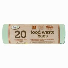20 Kitchen Caddy Compostable Biodegradable Food Waste 5L Bin Liner Bags DW