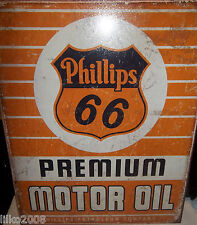 PHILLIPS 66 PREMIUM MOTOR OIL, METAL SIGN 40X30cm, MAN CAVE/GARAGE/SHED/GASOLINE