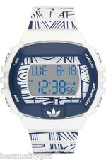 NEW ADIDAS DIGITAL WHITE,NAVY BLUE UNISEX WATCH-ADH6119