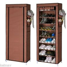 9-Layer Shoe Rack Organizer (Brown)
