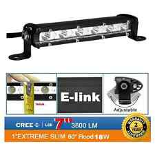 18W 7inch CREE LED Work Light Bar Super Ultra Slim Off Road Truck PODS SUV 4X4 6
