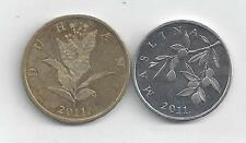 2 DIFFERENT COINS from CROATIA - 10 & 20 LIPA (BOTH DATING 2011).