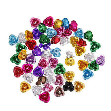 Wholesale! 100pcs Mixed Colors Aluminum Flower Spacer Loose Beads Jewelry Making