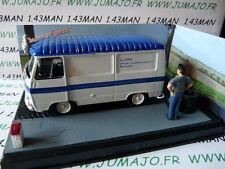 altaya IXO 1/43 diorama route bleue RN7 PEUGEOT J7 livraison de pneus