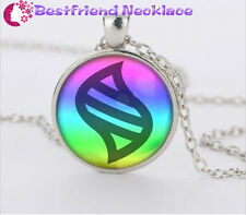 Silver Anime Pokemon mega stone Jewelry Glass Dome Pendant Necklace#T3
