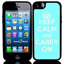 Baby Blue Keep Calm and Carry On For Iphone 6 Case Cover