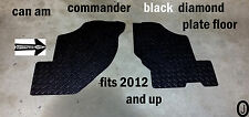 CAN AM COMMANDER CUSTOM CUT BLACK DIAMOND PLATE FLOOR BOARDS 2012-14