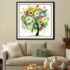 45*45cm Embroidery 14CT Counted Cross Stitch Kit Set Colorful Tree Home Decor