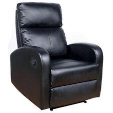 Sillon reclinable con palanca para salon. MIRA EL VIDEO.Tapizado polipiel negro