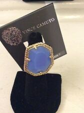 $48 Vince Camuto Blue Ring With Pave Crystals Size 7 Bbb 23
