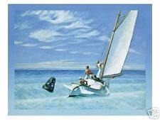 canvas effect Edward Hopper large sailing picture art print groundswell 70x90 cm