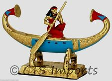 Gold Plated Djed-Maat-Iuesankh Rowing Boat EGYPTIAN TREASURES FREE S&H