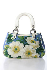 Isabella Fiore Multi-Color Beaded Floral Print Mini Tote Handbag